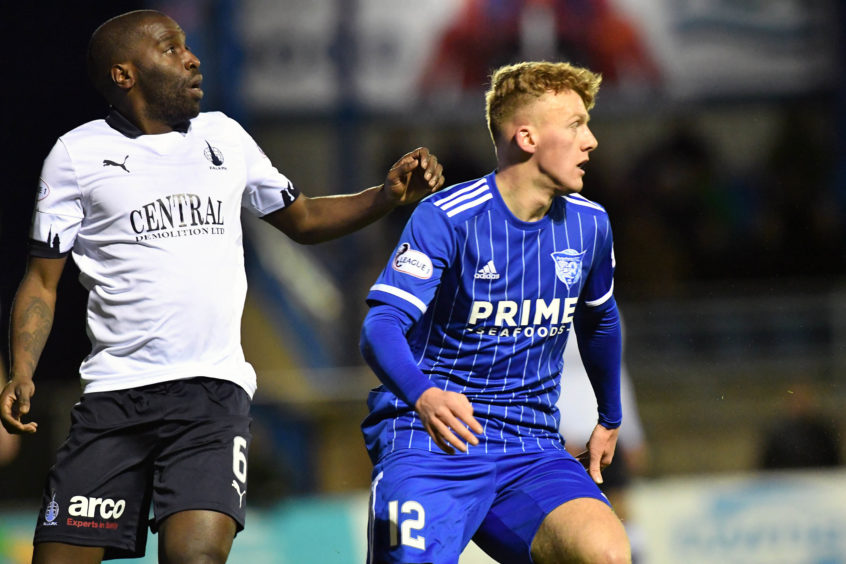 Andy McCarthy, right, playing for Peterhead