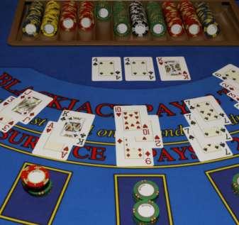 Casino - blackjack table