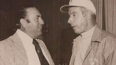 Martin Stanovich and Joe DiMaggio