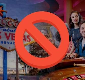Strike Out Sign Dengan Latar Belakang Las Vegas
