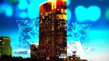 Crown Casino Dengan Latar Belakang Blackjack