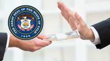 Uang Penolak Tangan Orang dan Stempel Negara Bagian Utah