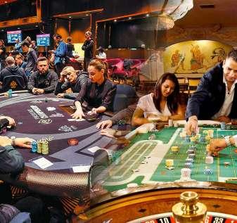 Gambar Campuran dari Dua Permainan Meja Kasino