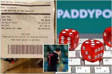 Celana penjudi hampir € 100k setelah menguangkan akumulator pemain bola beberapa saat sebelum dia kehilangan semuanya