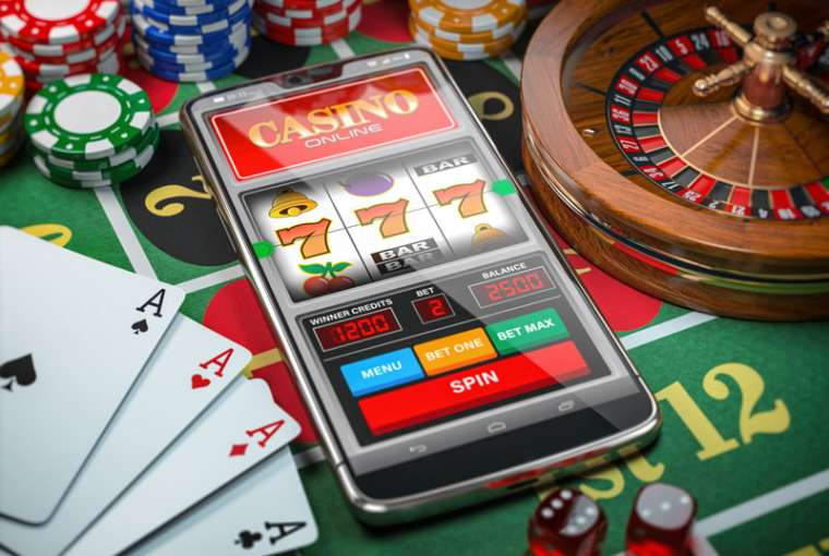 Cell phone with gambling app