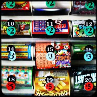 Lottery tickets. Photo by Coburn Dukehart / Wisconsin Center for Investigative Journalism.