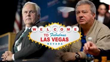 Las Vegas Tanda Grafis Dengan Dua Penjudi Pria