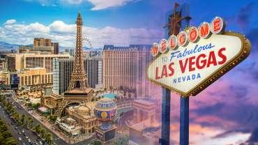 Las Vegas Sign dan Paris Las Vegas Casino Hotel