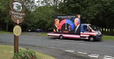 Raksasa judi Betfair meluncurkan swingometer pemilu AS di Washington - 4.500 mil dari ibu kota Amerika