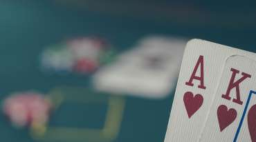 Cards in poker game