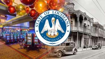 Seal Negara Bagian Louisiana Dengan Kasino dan Latar Belakang Bersejarah