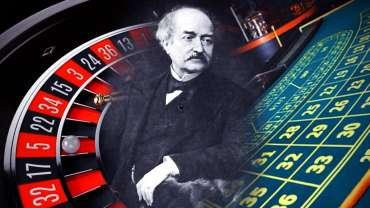 Francois Blanc Dengan Latar Belakang Roulette