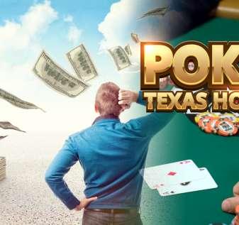 Pria yang Menggaruk Kepalanya Dengan Latar Belakang Uang dan Poker
